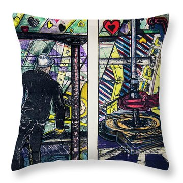 Drillers Love And Gimmicks Throw Pillow