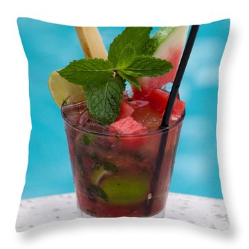 Drink 27 Throw Pillow