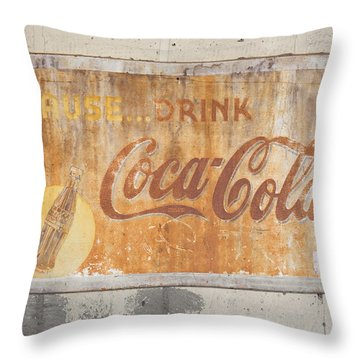 Throw Pillow featuring the photograph Drink Coca Cola by Mark Greenberg