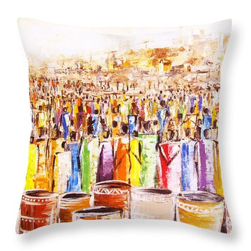 Drink Festival Throw Pillow