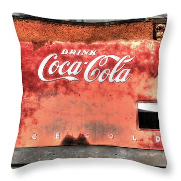 Drink Ice Cold Coca Cola Throw Pillow