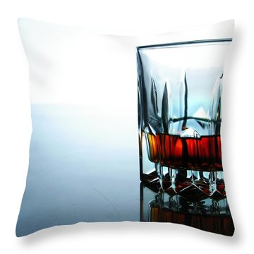 Drink In A Glass Throw Pillow by Jun Pinzon