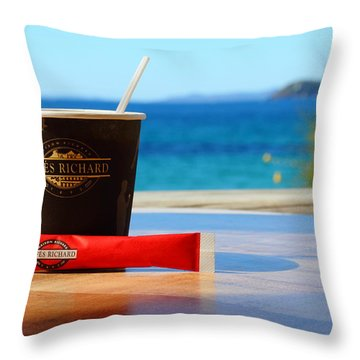 Throw Pillow featuring the photograph Drink It In by Richard Patmore