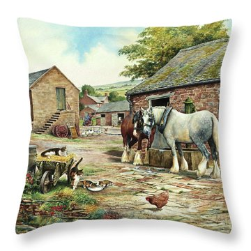 Drinking Companions Throw Pillow