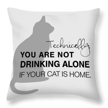 Drinking With Cats Throw Pillow