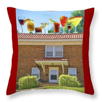 Drinks On The House Throw Pillow