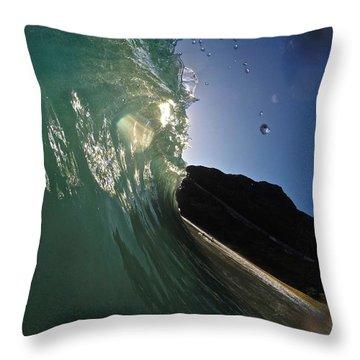 Drip Drop Rays Throw Pillow