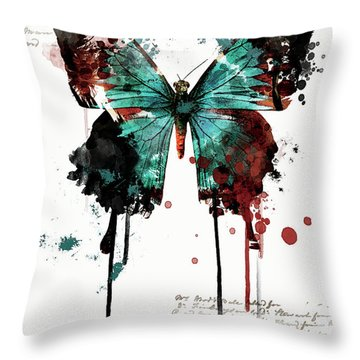 Dripping Butterfly Throw Pillow