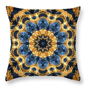 Dripping Gold Kaleidoscope Throw Pillow