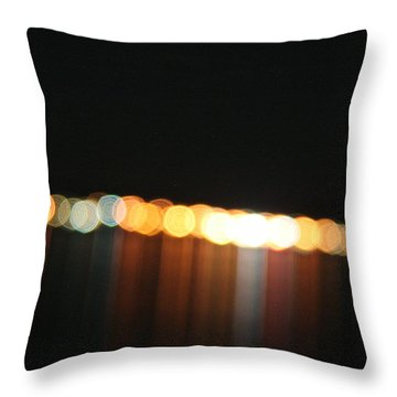 Dripping Light Throw Pillow by David S Reynolds
