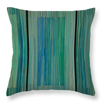 Drippings Triptych Throw Pillow