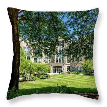 Driscoll Hall Throw Pillow