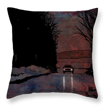Lonely Drawings Throw Pillows