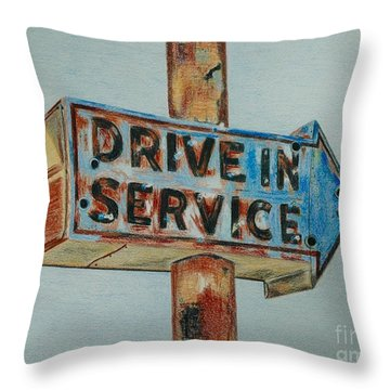 Drive In Service Throw Pillow