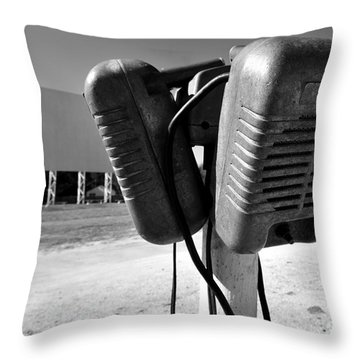 Drive In Speakers Throw Pillow by David Lee Thompson