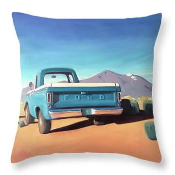 Drive Through The Sagebrush Throw Pillow