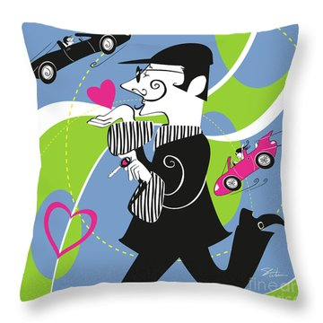 Driven To Love Throw Pillow