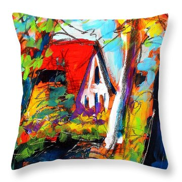 Driveway Revisited Throw Pillow