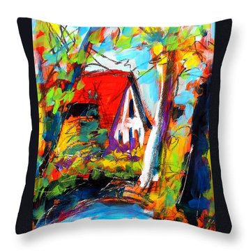 Throw Pillow featuring the painting Driveway Revisited by Les Leffingwell