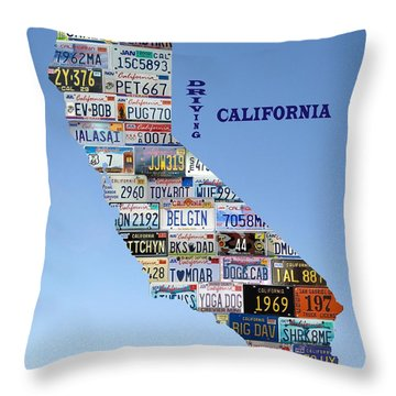 Driving California Throw Pillow