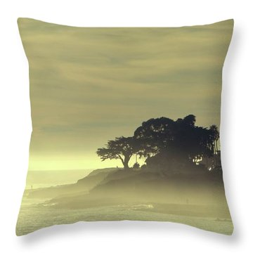 Throw Pillow featuring the photograph Driving Into The Settling Sun by Quality HDR Photography