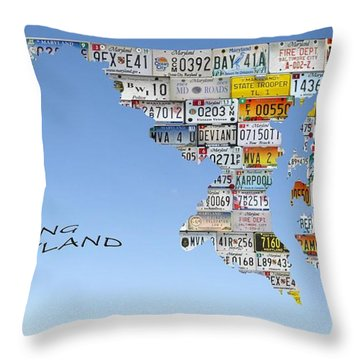 Driving Maryland Throw Pillow