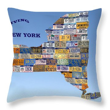 Driving New York Throw Pillow