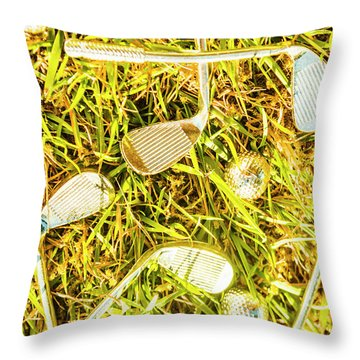Driving On The Green Throw Pillow