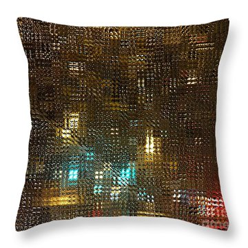 Driving Rain Throw Pillow by Sarah Loft