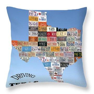 Driving Texas Throw Pillow