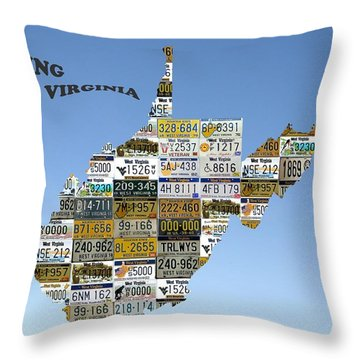 Driving West Virginia Throw Pillow