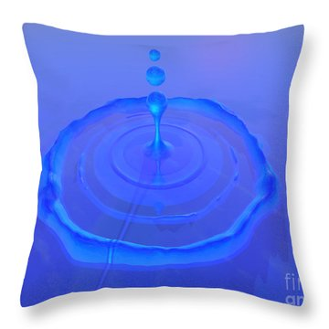 Drop Throw Pillow by Corey Ford
