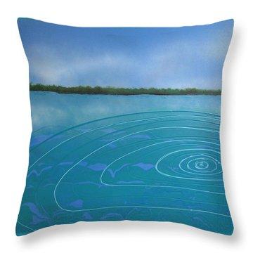 Drop In The Ocean Throw Pillow