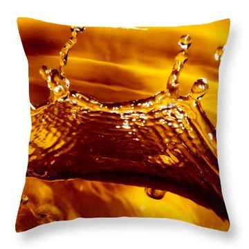 Drop Of Gold Throw Pillow