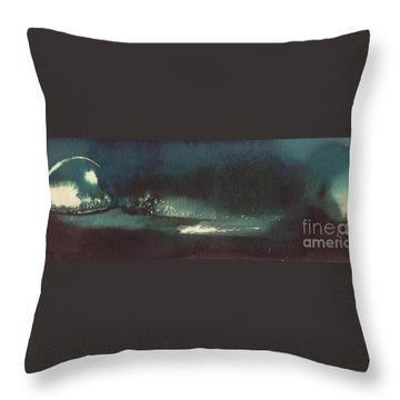 Throw Pillow featuring the painting Drop Of Water by Annemeet Hasidi- van der Leij