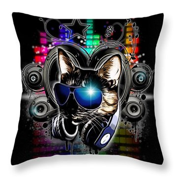 Drop The Bass Throw Pillow by Nicklas Gustafsson