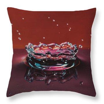 Droplet Impact 1 Throw Pillow