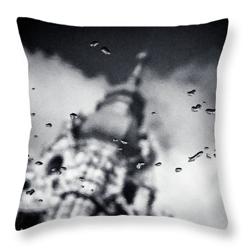 Droplets Throw Pillow by Dave Bowman