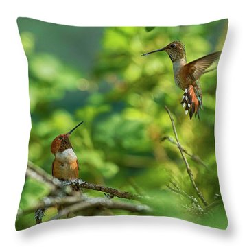 Dropped In Throw Pillow