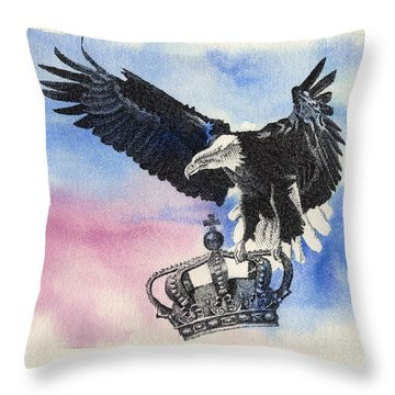 Dropping Royal Crowns Throw Pillow
