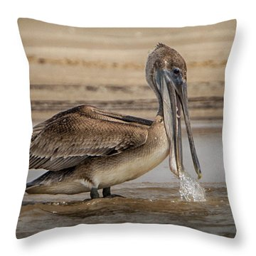 Dropping Water Throw Pillow