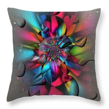 Drops By Nico Bielow Throw Pillow