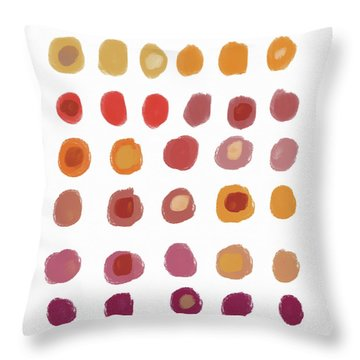 Drops Of Fall Color- Art By Linda Woods Throw Pillow