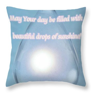 Drops Of Sunshine Throw Pillow