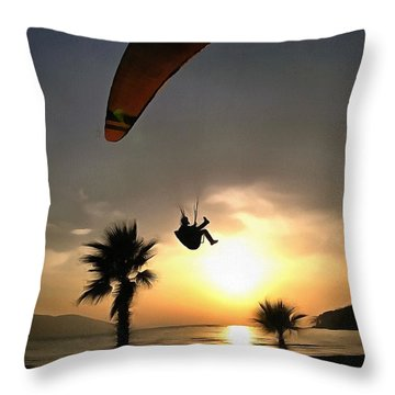 Dropzone At Dusk Throw Pillow