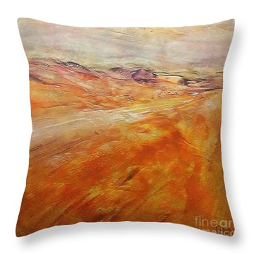 Throw Pillow featuring the painting Drought by Dragica  Micki Fortuna