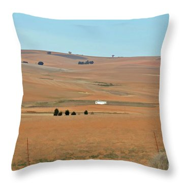 Drought-stricken South African Farmlands - 1 Of 3  Throw Pillow