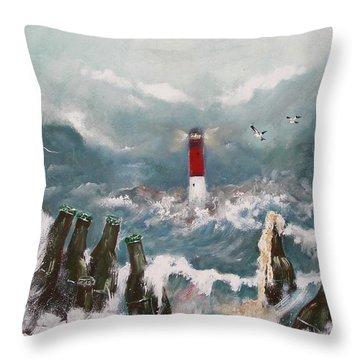Drown In Alcohol Throw Pillow