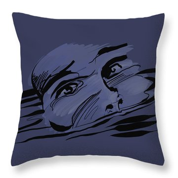 Throw Pillow featuring the digital art Drown by Keith A Link