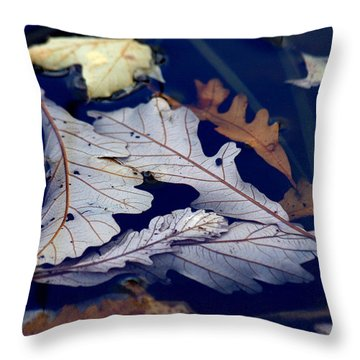 Throw Pillow featuring the photograph Drowning In Indigo by Doris Potter